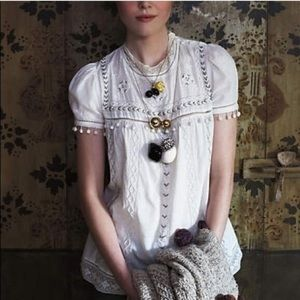 Anthropologie Leifnotes glinted peasant blouse 8